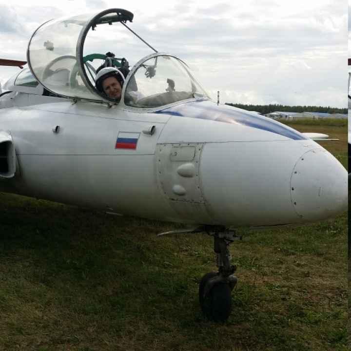Полёт на истребителе Л-29 в первой кабине