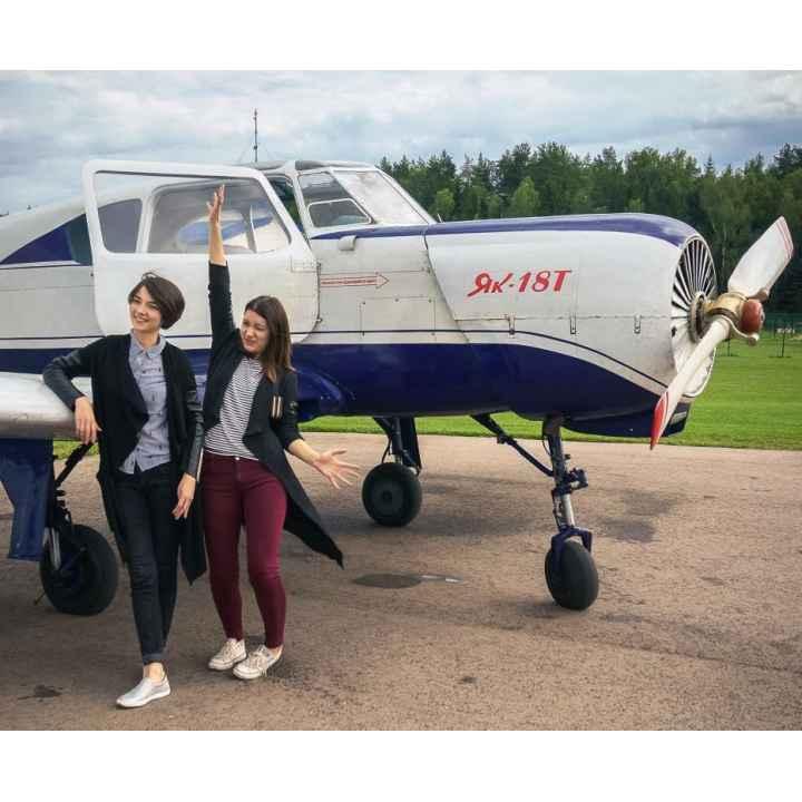 Управление самолетом ЯК-18Т для двух участников