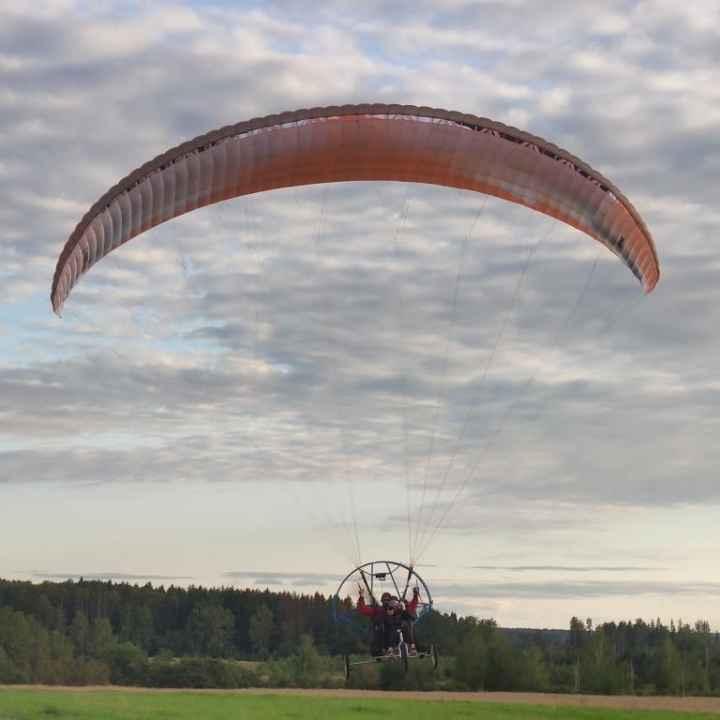 Полёт на паралёте (мотопараплане) в Подмосковье