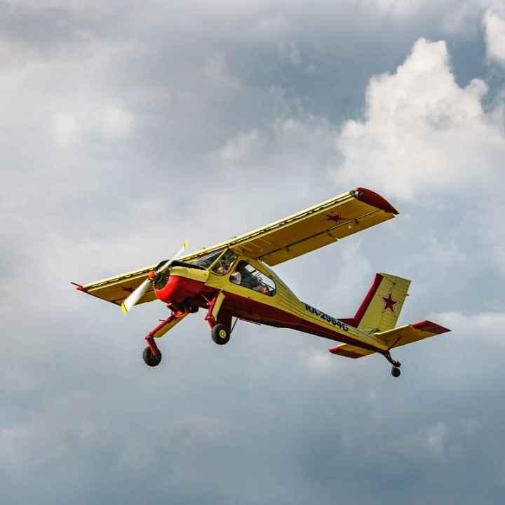 Подарочный сертификат на урок пилотирования самолета Вильга (действует 1 год)
