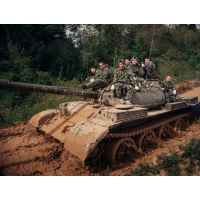 Экскурсия на полигон и катание на танке Т-62М
