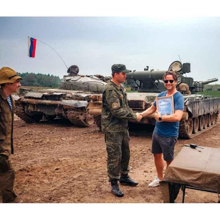 Экскурсия на танковый полигон и катание на танке Т-80
