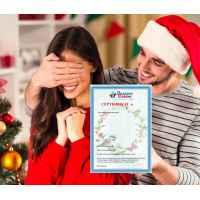 Подарочный сертификат «На Новый Год!» с выбором из 12 услуг