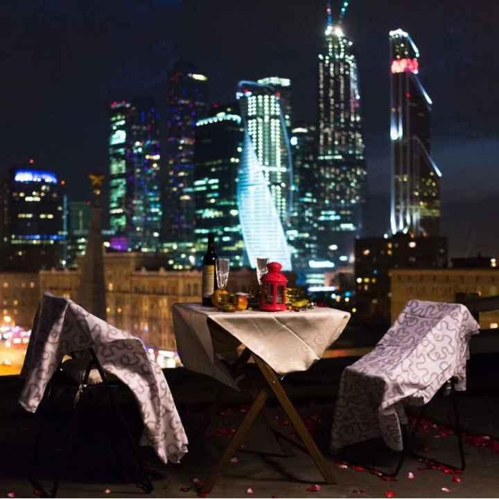 Романтическое свидание на крышах Москвы