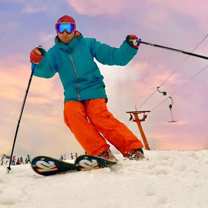 Подарочный сертификат на обучение катанию на горных лыжах (действует 1 год)