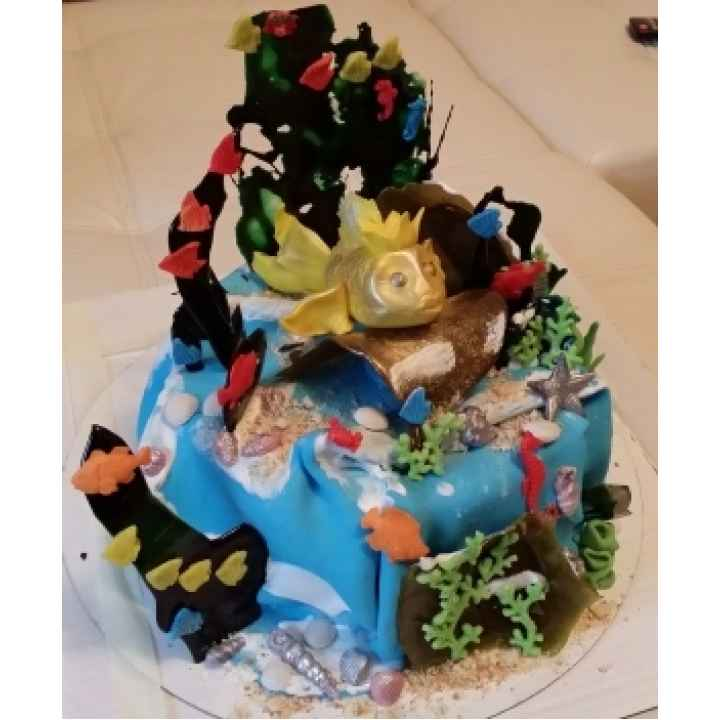 Большой торт на заказ модель «Золотая Рыбка»