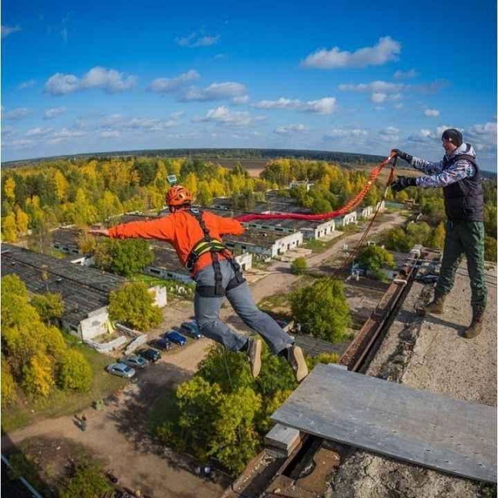 Купить подарочный сертификат на роуп-джампинг (rope jumping) - прыжок с веревкой