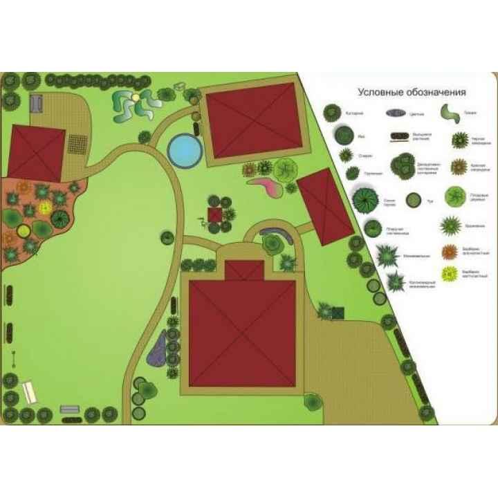 Разработка плана озеленения участка