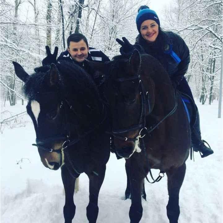 Романтическое свидание в конном клубе