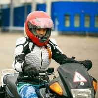 Урок езды на мотоцикле Yamaha TW200