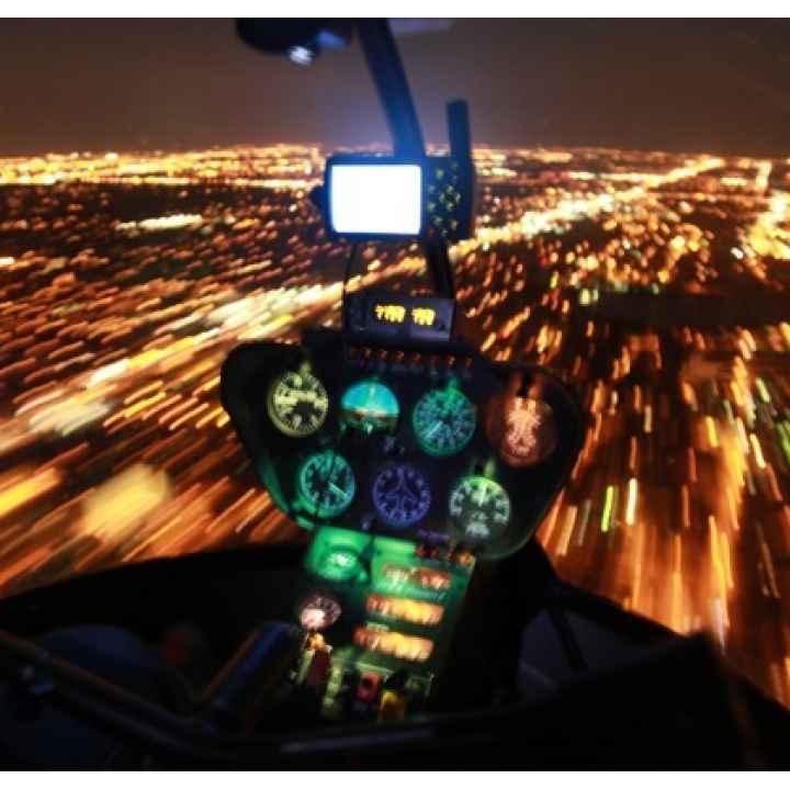 Полет на вертолёте Robinson «Ночная Москва»