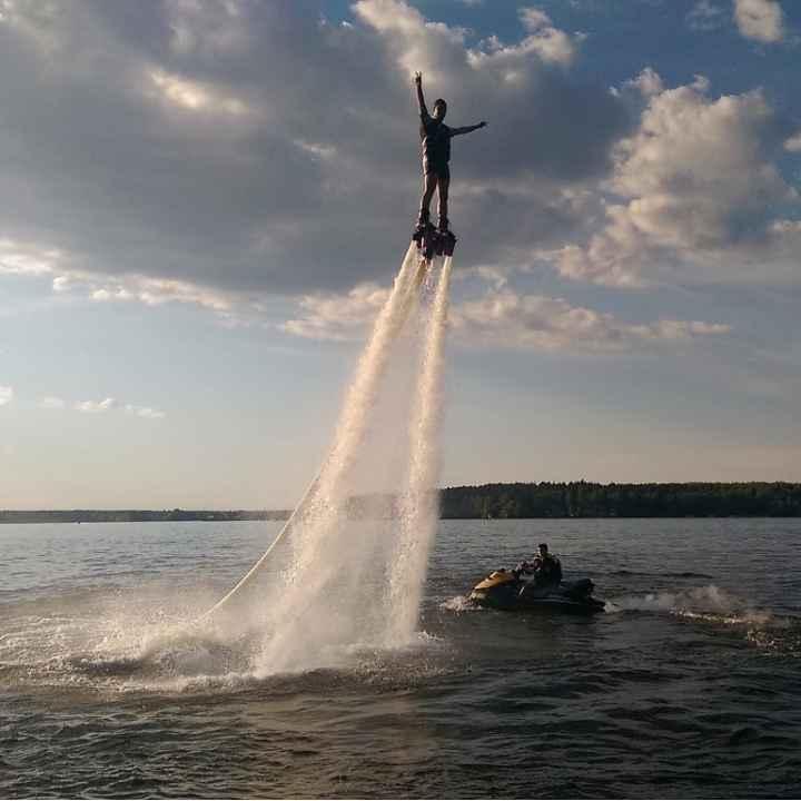 Урок пилотирования флайборда на Пироговском водохранилище