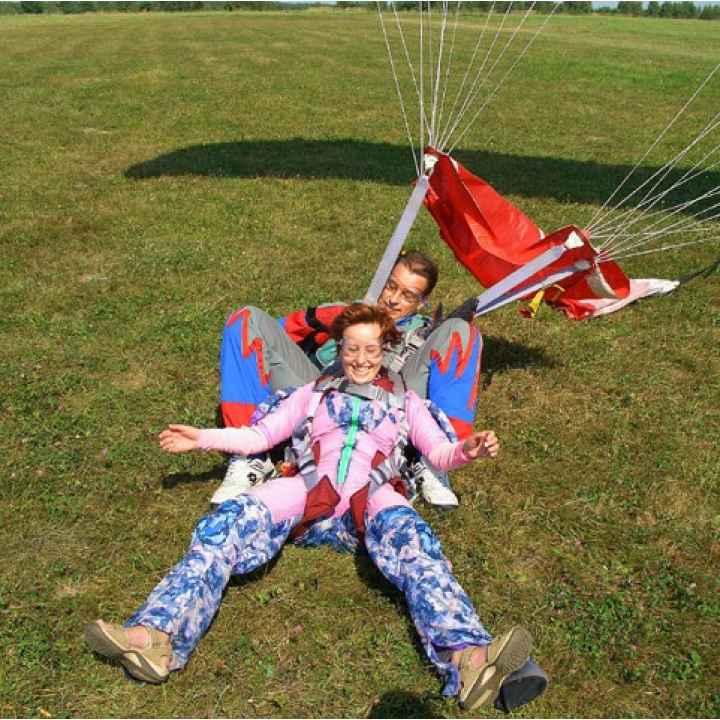 Купить подарочный сертификат на прыжок 2 человек с парашютом в тандеме с инструктором