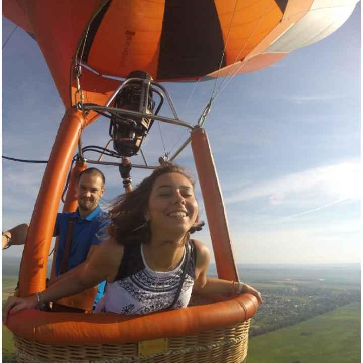 Полет на воздушном шаре втроем